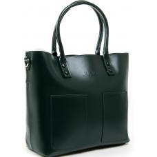 Женская кожаная сумка 198P-3 green