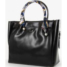 Женская черная сумка из натуральной кожи PP8696-1