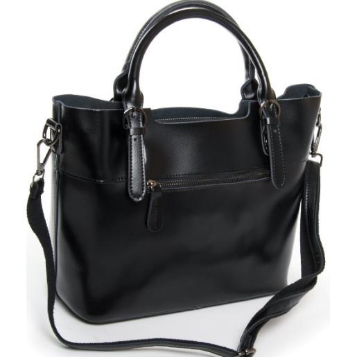 Женская сумка кожаная черная Elegant 8222PP-1