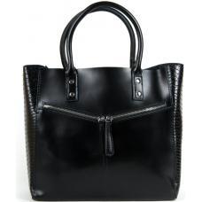 Женская кожаная сумка 8713-POD Черный