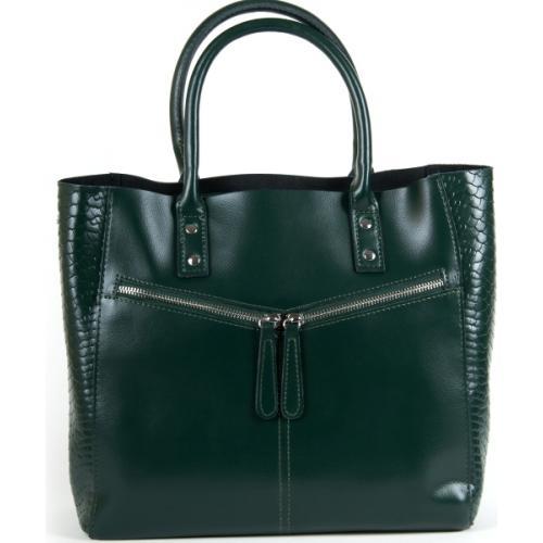 Женская кожаная сумка POD8713 Зеленый