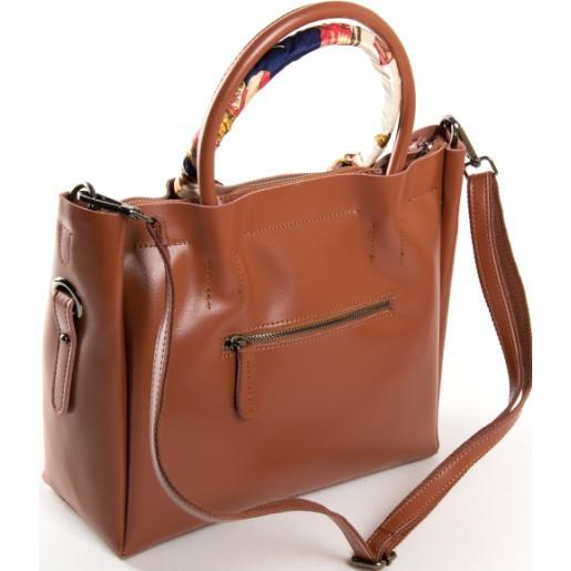 Женская кожаная сумка PP8696-3 Camel
