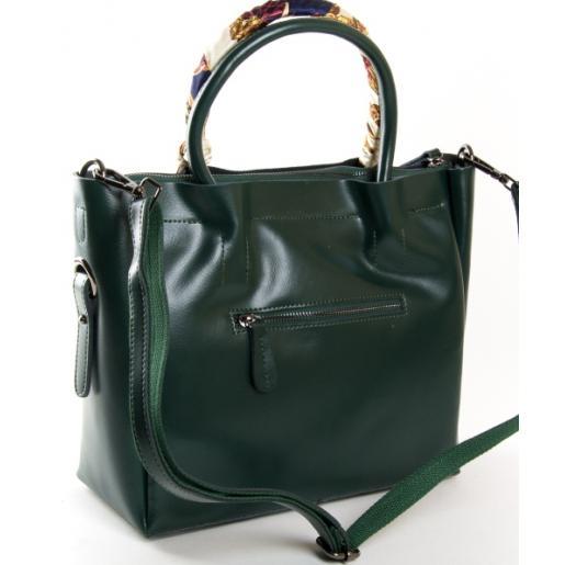 Женская кожаная сумка PP8696-2 Зеленый