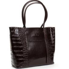 Женская сумка кожаная коричневая POD13-9710-3