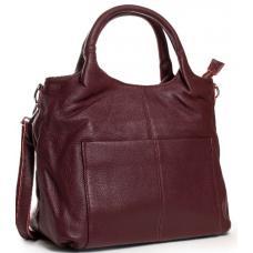 Женская кожаная сумка бордовая POD9502-1