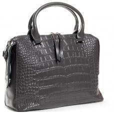 Кожаная женская сумка серая POD-20-8542-2