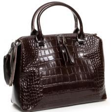 Женская кожаная сумка коричневая POD-20-8542-3