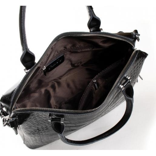 Женская кожаная сумка черная POD-20-8542-1