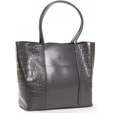 Женская кожаная сумка серая POD13-9710-1