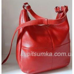 Женская сумка кожаная красная PB14-9