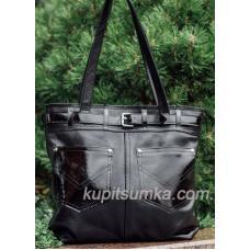 Женская сумка из натуральной кожи PV24-2 Черный