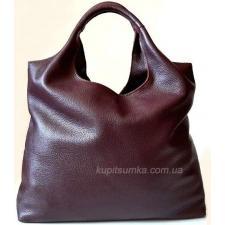 Женская сумка хобо из натуральной кожи 15B Марсала