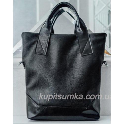 Женская кожаная сумка PB40-1 Черный
