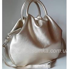 Женская кожаная сумка 31PB-5 Бледное золото