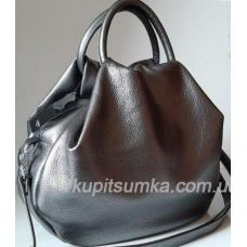 Женская сумка из натуральной кожи 31PB-7 Графитовый