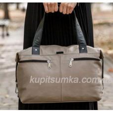 Кожаная женская сумка Капучино