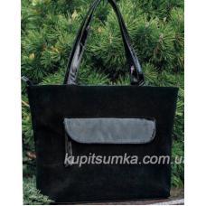Замшевая женская сумка UK7PB Черный