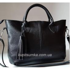 Кожаная женская сумка Elegant 23PB-3 Черный