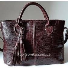 Женская кожаная сумка Elegant 23PB-5 Коричневый