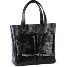 Женская кожаная сумка 02PB-3 Черный