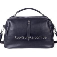 Женская сумка из натуральной кожи на два отделения Синий