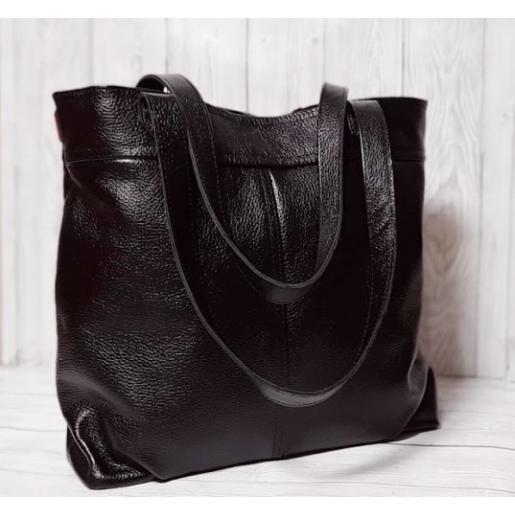 Женская сумка кожаная PB24-2 Черный