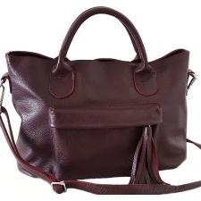 Женская кожаная сумка PB26-3-1 Бордовый