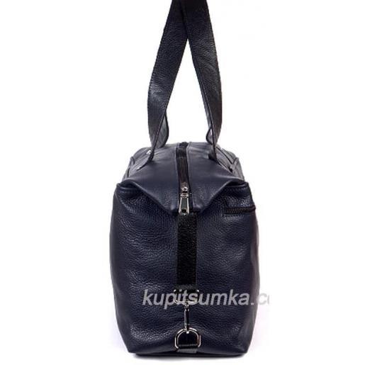 Женская сумка кожаная синяя BP43-129