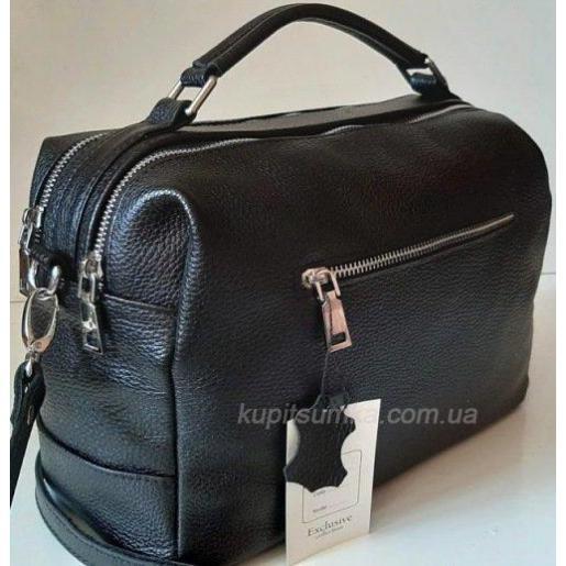 Женская сумка-мессенджер из кожи BP44-8 Чёрный