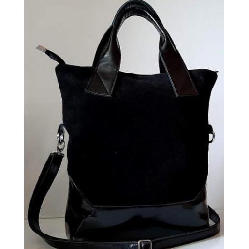 Женская сумка из натуральной кожи и замши 40PB-1 Черный
