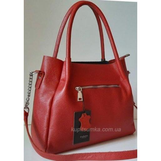Женская кожаная сумка CRO RED PB33-2