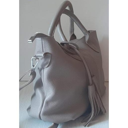 Кожаная сумка женская PB23-5 Серый