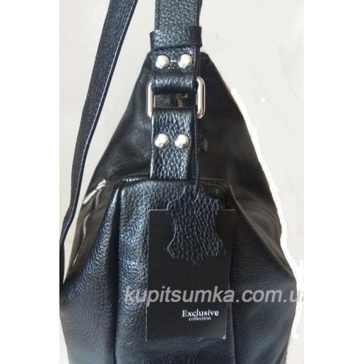 Женская кожаная сумка 23PB-2 Черный