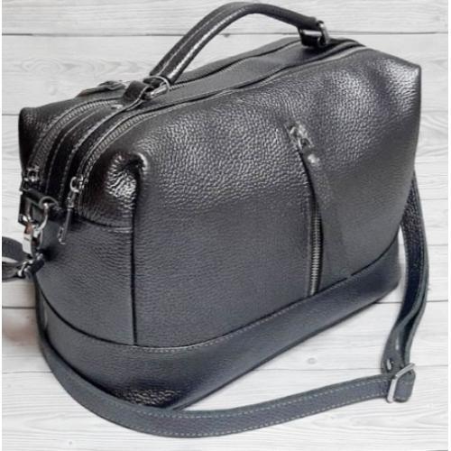 Женская кожаная сумка-мессенджер BP-44-9 Графитовый