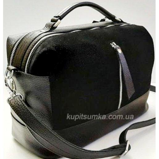 Женская кожаная сумка-мессенджер BP44-1 Черный