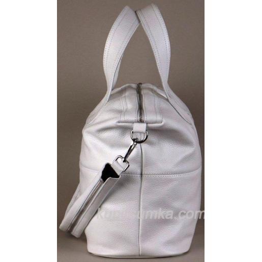 Женская кожаная сумка PV22-5 Белый