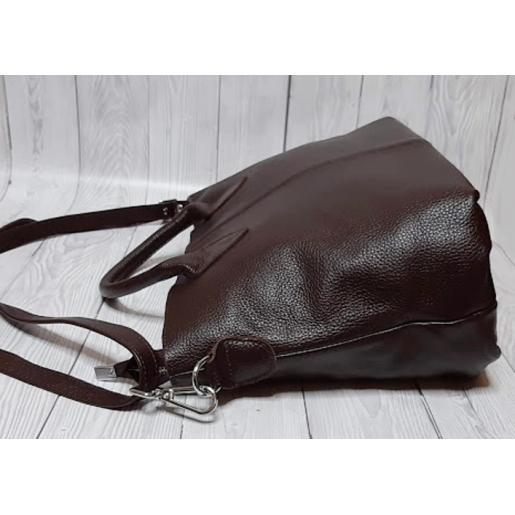 Кожаная женская сумка Elegant 23PB Коричневый