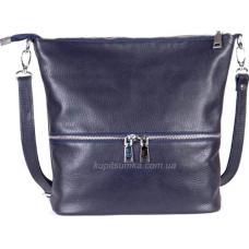 Удобная женская сумка из натуральной мягкой кожи Синий