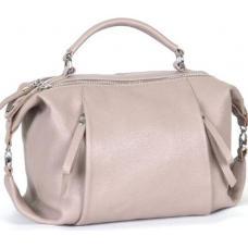 Молодежная кожаная сумка от украинского производителя розового цвета