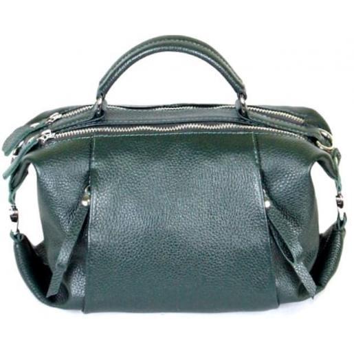 Кожаная женская сумка PB52-3 Зеленый