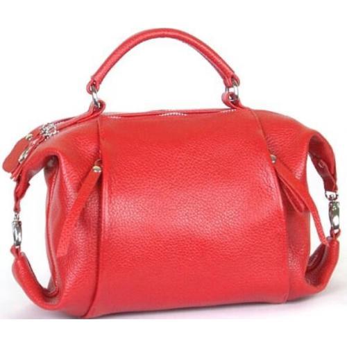 Кожаная женская сумка PB52-1 Красный