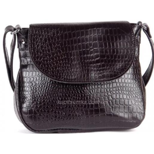 Женская сумка на плечо из тисненой натуральной кожи