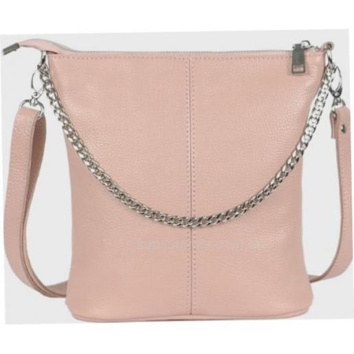 Женская кожаная сумка-планшет розовая 41B-29