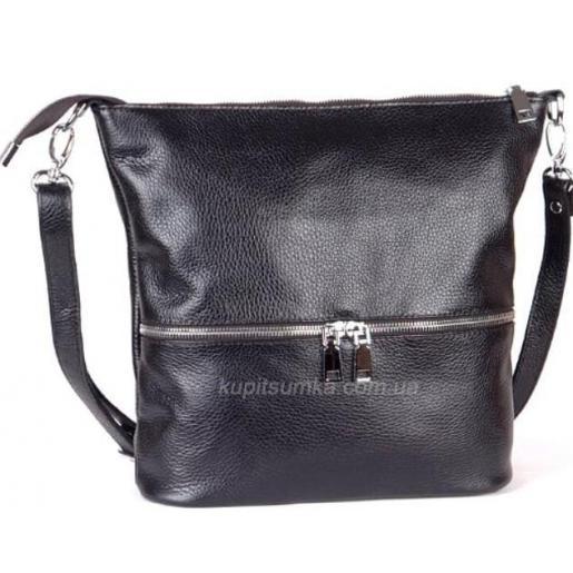 Женская сумка кожаная на плечо черная 42BP-45