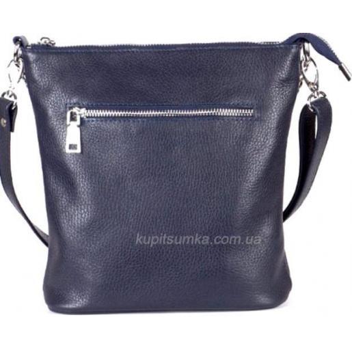 Кожаная женская сумка кросс - боди синяя 42BP-18