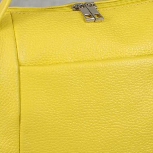 Женская кожаная сумка желтая PB52-787