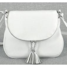 Женская кожаная сумка кросс-боди PV19-22 white