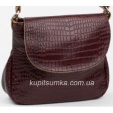 Женская сумка кросс - боди из натуральной кожи Коричневый