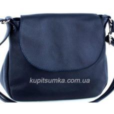 Женская сумка из натуральной кожи флотар тёмно - синего цвета