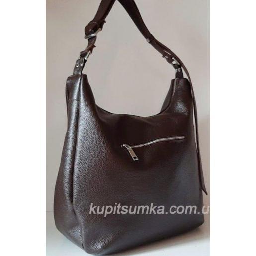 Женская кожаная сумка на плечо PB14-1 Коричневый